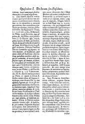 De incantationibus seu Ensalmis opusculum primum