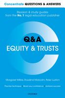 Concentrate Questions and Answers Equity and Trusts PDF