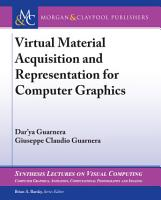 Virtual Material Acquisition and Representation for Computer Graphics PDF