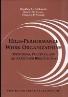 High performance Work Organizations PDF