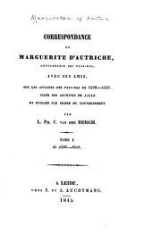 Correspondance de Marguerite d'Autriche: 1506-1511