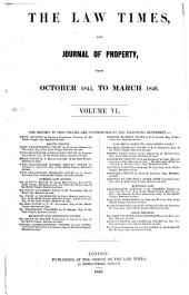 The Law Times: Volume 6