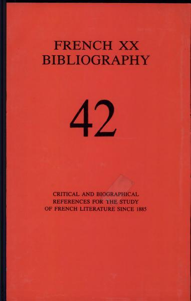 Download French Twentieth Bibliography Book