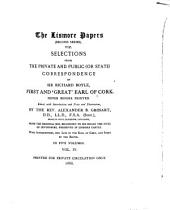 "The Lismore Papers of Richard Boyle, First and ""Great"" Earl of Cork: Volume 2, Part 4"