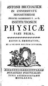 Institutiones Physicae: Volume 1