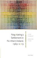 Negotiating a Settlement in Northern Ireland  1969 2019 PDF