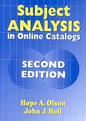 Subject Analysis in Online Catalogs PDF