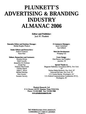 Plunkett s Advertising   Branding Industry Almanac