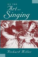 On the Art of Singing PDF