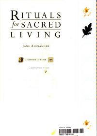 Rituals for Sacred Living Book
