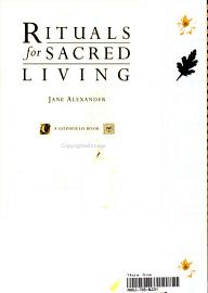 Rituals For Sacred Living