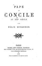 Pape et concile au XIXe siècle