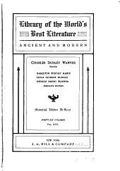 Library of the World's Best Literature, Ancient and Modern: Synopses of noted books. General index