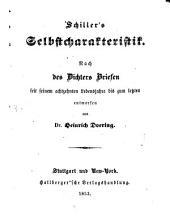 Schiller's Selbstcharakteristik