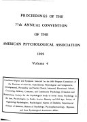 Proceedings of the Annual Convention of the American Psychological Association