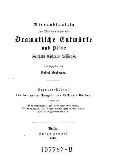 Vierundf  nfzig zum Theil noch ungedruckte dramatische Entw  rfe und Pl  ne PDF