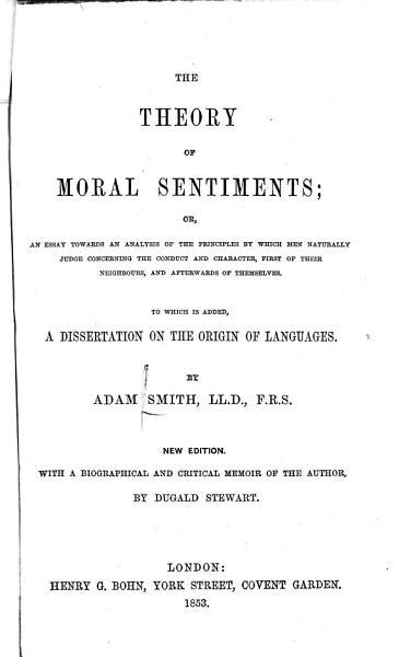 Download The Theory of Moral Sentiments Book