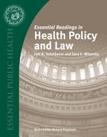 Essential Readings in Health Policy and Law PDF