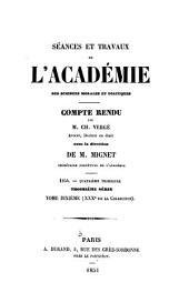 Séances et travaux de l'Académie des sciences morales et politiques, compte rendu