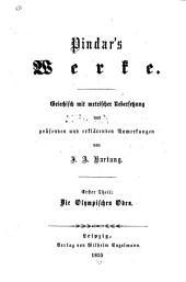 Die griechischen Lyriker: -4. Bd. Pindar's Werke. 4. Tle, 1855-56