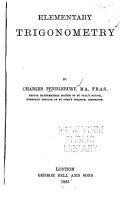 Elementary Trigonometry PDF