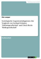"""Soziologische Gegenwartsdiagnosen. Ein Vergleich von Gerhard Schulzes """"Erlebnisgesellschaft"""" und Ulrich Becks """"Risikogesellschaft"""""""