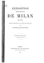 """Exposition rétrospective de Milan en 1874: eLettre au directeur de la """"Gazette des Beaux-Arts"""
