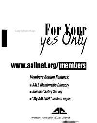 AALL Directory and Handbook PDF