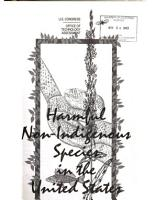 Harmful Non indigenous Species in the United States PDF