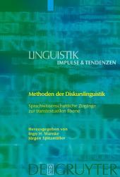 Methoden der Diskurslinguistik: Sprachwissenschaftliche Zugänge zur transtextuellen Ebene