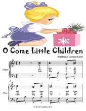 O Come Little Children - Elementary Piano Sheet Music Junior Edition