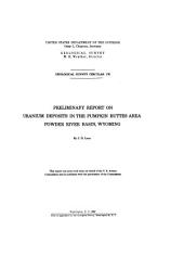 Preliminary report on uranium deposits in the Pumpkin Buttes area: Powder River Basin, Wyoming, Issues 176-185