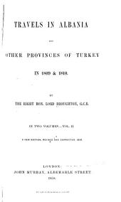 Travels in Albania and Other Provinces of Turkey in 1809 & 1810: Volume 2