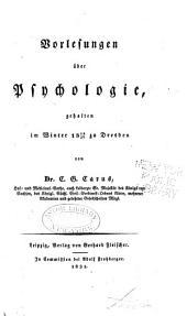 Vorlesungen über psychologie: gehalten im Winter 1829/30 zu Dresden