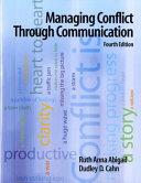 Managing Conflict Through Communication Book