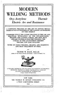 Modern Welding Methods Book