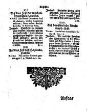 Ausgemachter Schlüssel zu dem geistlichen Kartenspiel: D. i. Ausgemachte Predigten : Nebst Festivale hiezu. Festivale. - 6 Bl., 400 S., 8 Bl