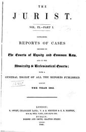 The Jurist: Volume 9, Part 1