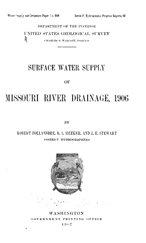 Water supply and Irrigation Papers of the United States Geological Survey PDF