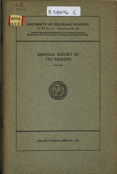 Biennial Report of the Regents: Volume 20