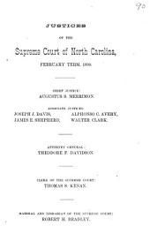 North Carolina Reports: Cases Argued and Determined in the Supreme Court of North Carolina, Volume 105