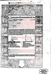 Commentaria seu Lectura in ... Decretalium librum: Prima Panormi[tani] in primu[m] Decre[talium], Volume 1, Issue 1