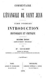 Commentaire sur l'Evangile de Saint Jean: Volume1