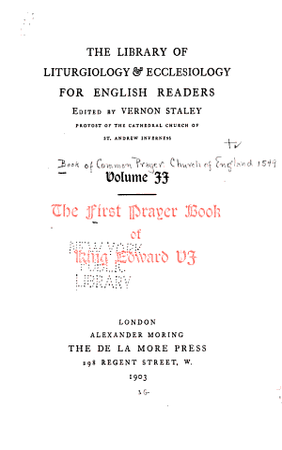 The First Prayer Book of King Edward VI  PDF