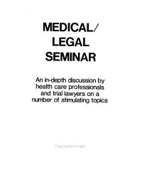 Medical Legal Seminar PDF