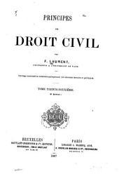 Principes de droit civil français: Volume32