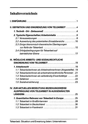 Telearbeit   Situation und Erwartung   sterreichischer Unternehmen PDF
