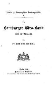 Die Hamburger Giro-Bank: und ihr Ausgang