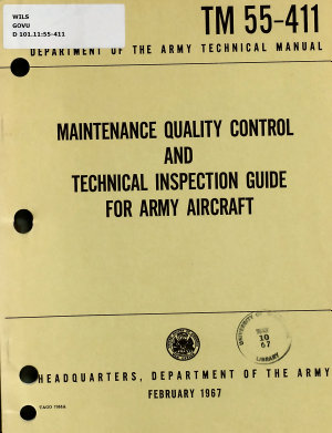 Maintenance Quality Control and Technical Inspection Guide for Army Aircraft PDF