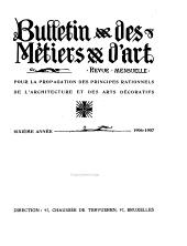 Bulletin des métiers d'art: Volume6